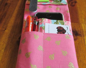 Ladybug Nurse Pocket Organizer, Coral Pocket Organizer