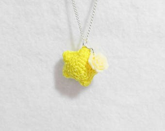 Candy Star Crochet Necklace Ooak