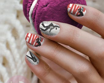 I love lucy nail decal tv show nail art nail design lucy elvis nail decal waterslide nail decal nail manicure decal finger nail decal prinsesfo Gallery