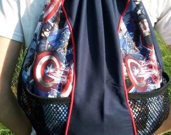 Captain America Drawstring Backpack