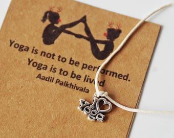 Buy5Free1~ Yoga Christmas, Yoga Xmas, Yoga Wish Bracelet, Party favors, Yoga Gifts, Zen, Breath, Vegan, Namaste, yoga quotes,gift for yogi