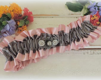 Blush silver Garter for wedding prom garter dusty pink and gray garter accessories throw garter keepsake satin garter tutuhot