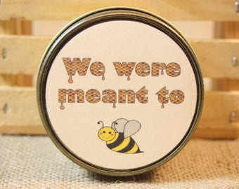 Wedding Favors We were meant to bee, 12 Wedding Favors 4 Ounces Each, Customize Honey Scented Yellow Candle Wedding Favors