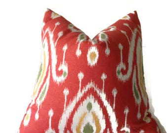 Persian Red iKat Pillow Cover, Decorative Throw Pillow, Home Decor, Accent Pillow