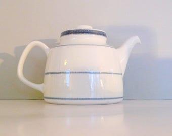 Swedish teapot Rorstrand Sweden Fjord Teapot Designed by Carl-Harry Stålhane & Jacqueline Lynd 1970s