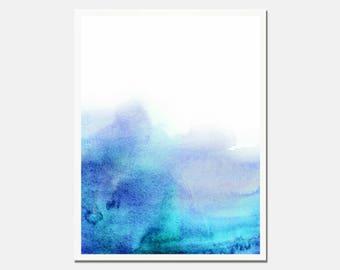 Blue abstract art etsy for Minimal art venezuela