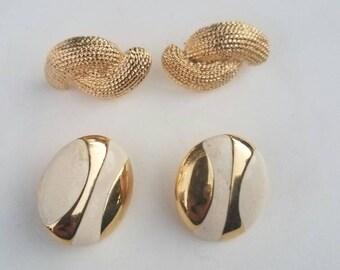 Vintage pierced earring lot Napier & Emond