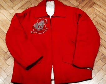 Vintage 50s Rockabilly Stadium Jacket.