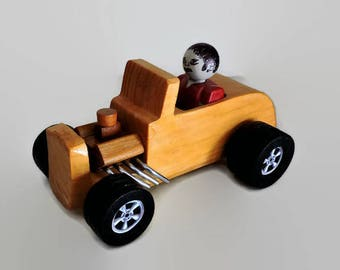 Wooden Toy hot rod