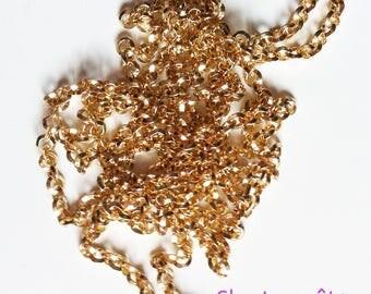 86cm to 4mm Golden brass chain