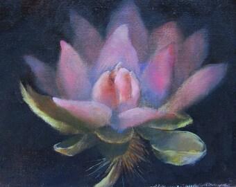 Lotus, (oil painting)