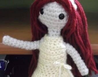 Crochet doll,posable doll, red headed doll, doll amigurumi, doll, ready to ship