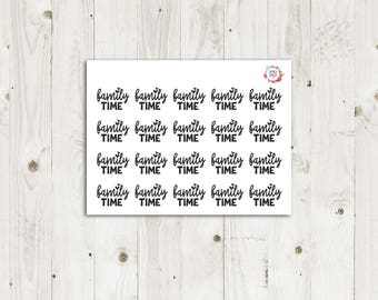 Family Time Stickers - ECLP Stickers