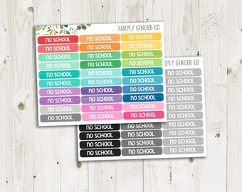 No School Label Stickers -