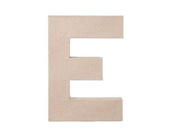 8 INCH Paper Mache Letter E - Cardboard Letters - Kids Craft Supplies
