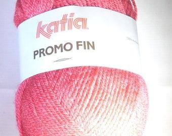 Ball of wool Katia promo of 50gr collar 1 x pink 0169