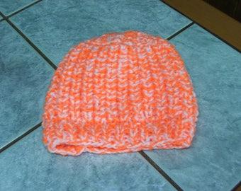 Beanie Baby orange/white beaded sides - month-6/9 - handmade