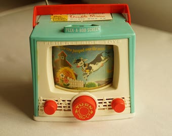 Fisher Price Hey, Diddle Diddle Double Screen Color TV Music Box