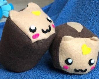 Cat Bread Loaf Plushie / Plush Toy Bread Breakfast Animal Cute Kawaii
