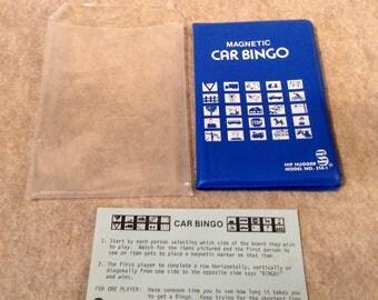 Hip Hugger Car Bingo Game. Game with Instruction Sheet. Vintage Travel Game