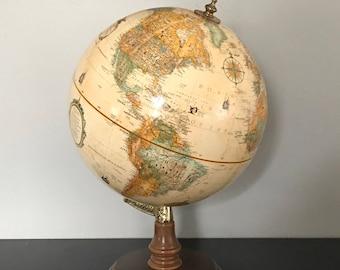 "Replogle Globe Desk Top Globe 12""  Hard Wood Base World Classic"