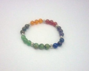 Bracelet in semi precious stone 7 chakras