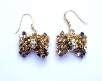 Swarovski crystal necklace earrings