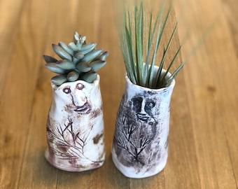 Wood Folk Bud Vase