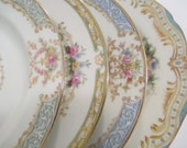 Vintage Mismatched China Dessert Plates, Bread Plates, Shabby, Mother's Day, Farmhouse, Tea Party,Wedding,Bridesmaid Gift-Set of 4