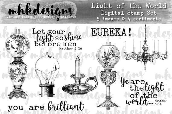 Light of the World Digital Stamp Set