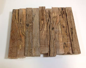 9 Spalted Sycamore Pen Blanks, Wood Pen Blanks, Sycamore Pen Blanks