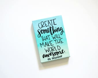 Create Something - Ombre painted canvas 5X7
