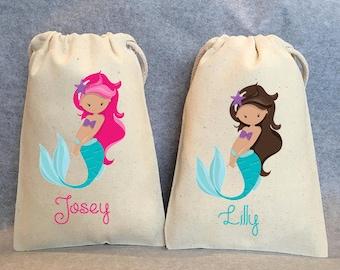 """13- Mermaid Party, Mermaid Party Favor, Mermaid Birthday, Mermaid birthday supplies, Mermaid party favor bags- 5""""x8"""""""
