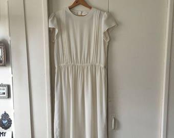 Vintage white sheer short sleeve dress