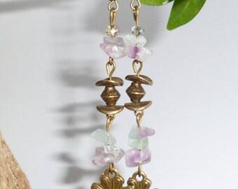 """Elven/fairy earrings """"Rainbow"""""""