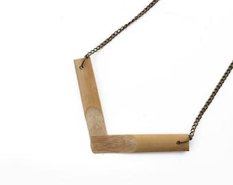 Reed Necklace | Chevron | Wooden Jewellery