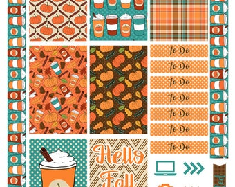 Happy Planner Big Weekly Kit Printable Planner Stickers- Pumpkin Spice