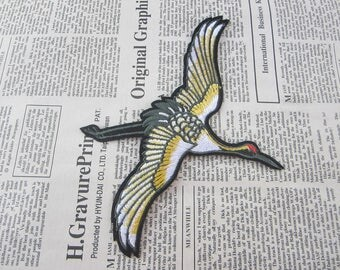 Bird Embroidered Applique Iron On Patch