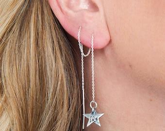 Sweet Star Threader Earrings.