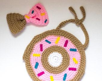 Donut Crop Top/ Donut Bow/ Donut shirt/ Donut clip/ Girls crop top/ Baby crop top/ Girls bow/