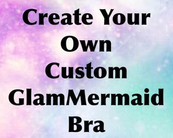 Glam Mermaid Goddess | Rave Bra | Costume | Festival Outfit | Custom Outfit