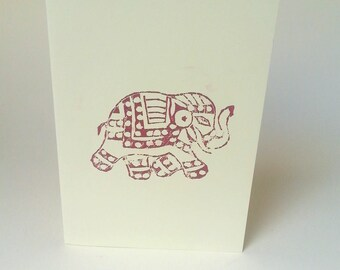 "The card ""The cute elephant"" with its envelope"