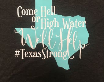 Texas Strong Tank Top #Harvey #TexasStrong 10 Dollars to Mercury One Hurricane Disaster Relief Tank Top Hell or High Water Texas