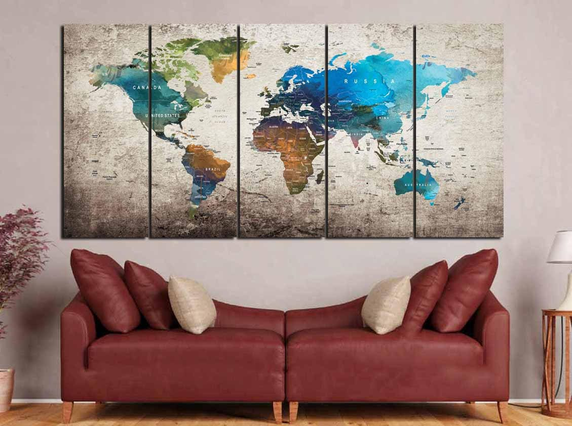 World map wall artworld map printworld map canvasworld map art world map wall artworld map printworld map canvasworld map artworld map watercolorworld map push pintravel maplarge world mapmap art sciox Images