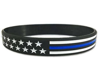 Stars and Stripes Thin Blue Line Bracelet