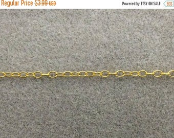 40% OFF High Polish Natural Brass anti Tarnish Cable  ITALIAN  Chain By Foot  - CH125