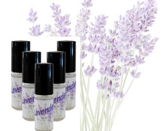 Lavender | Handcrafted Perfume Oil | Natural | Roll-On | Purse Travel Size 5ml | Bath & Body