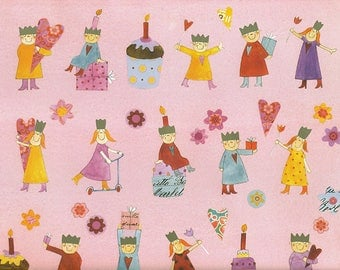 Children's birthday-gift wrapping paper Aurélie Blanz