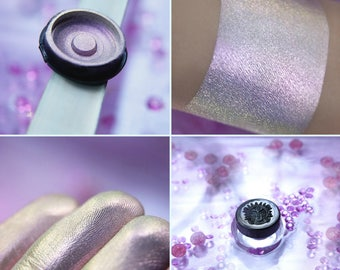 Eyeshadow: Projection of Bliss - Alchemy. Magical pink-gold satin eyeshadow by SIGIL inspired.