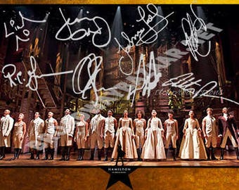 "Hamilton Musical Broadway Signed Photo 8""x10"""